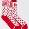 Chaussettes de noel rouge femme