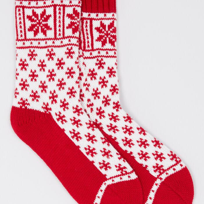 Chaussettes de noël femme rouge