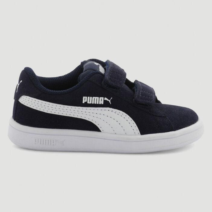 Tennis cuir Puma SMASH V2 garçon bleu