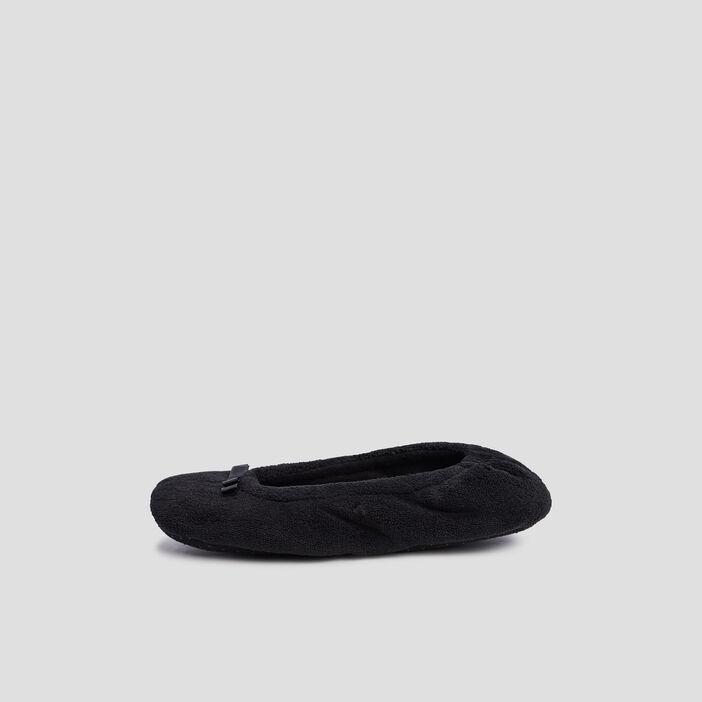 Chaussons ballerines à noeuds  noir