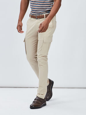 Pantalon slim ceinture Creeks beige homme