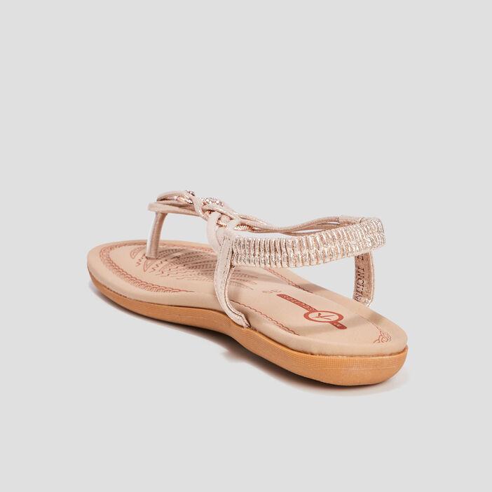 Sandales Mosquitos femme couleur or