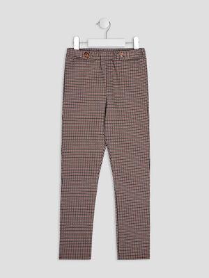 Pantalon droit avec pattes multicolore fille