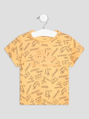 T shirt manches courtes jaune bebeg