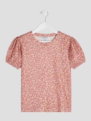 T shirt manches courtes multicolore fille