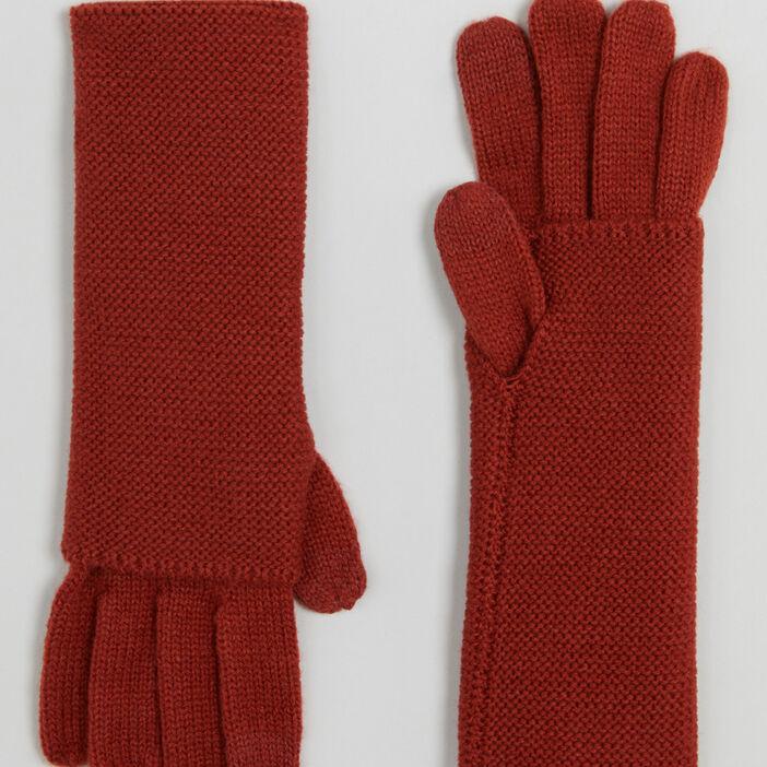 Paire de longs gants mixte orange foncã‰