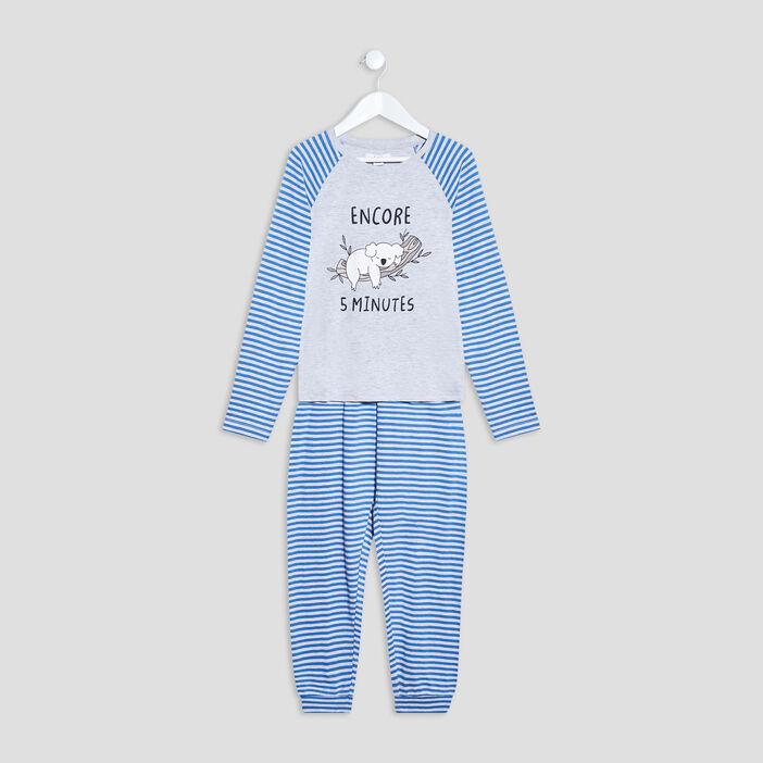 Ensemble pyjama 2 pièces garçon gris clair
