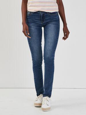 Jeans droit taille basse denim stone femme