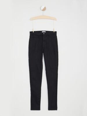 Pantalon droit uni noir fille