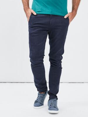 Pantalon chino skinny Creeks bleu marine homme