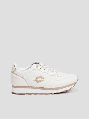 Baskets retro running Lotto blanc femme