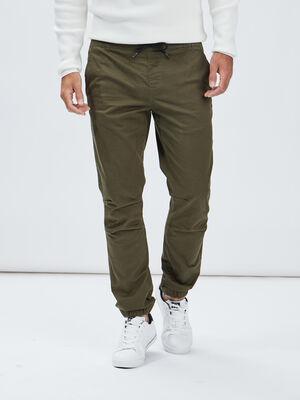 Pantalon jogpant vert kaki homme