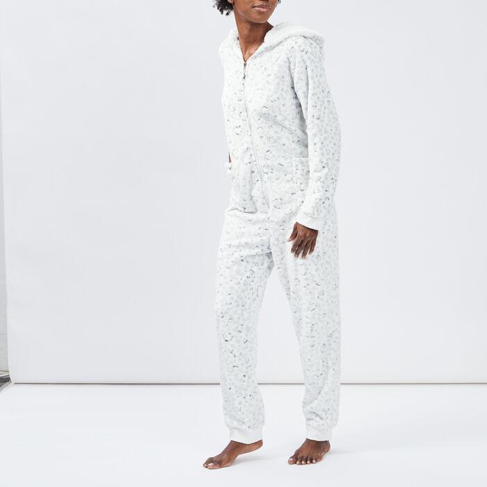 Pyjama combinaison femme ecru