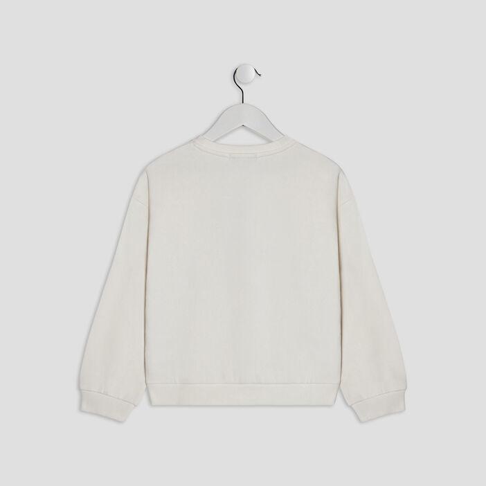 Sweatshirt fille ecru