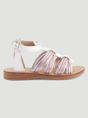 Sandales a lanieres irisees blanc fille