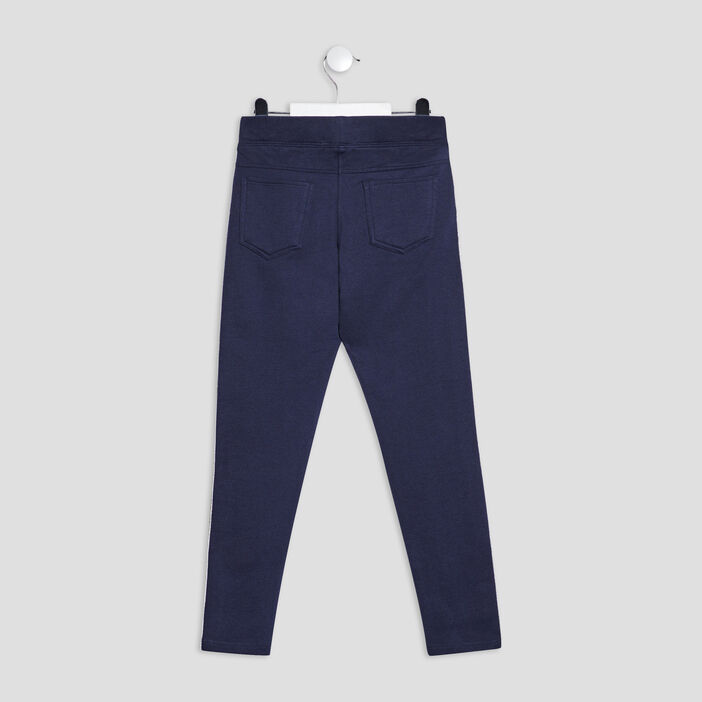 Pantalon jogging avec bandes fille bleu marine
