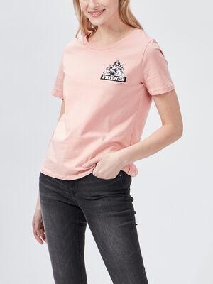 T shirt manches courtes Minnie rose femme