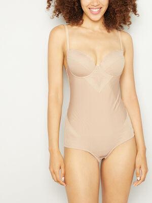 Body gainant beige femme