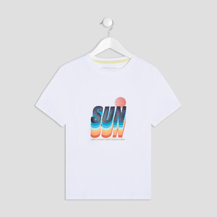 T-shirt manches courtes Creeks garçon blanc
