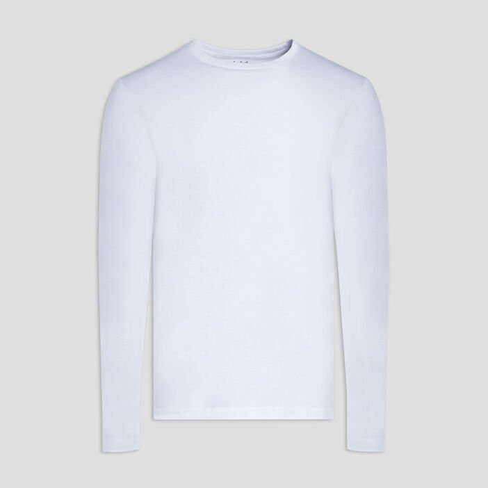 T-shirt manches longues homme blanc