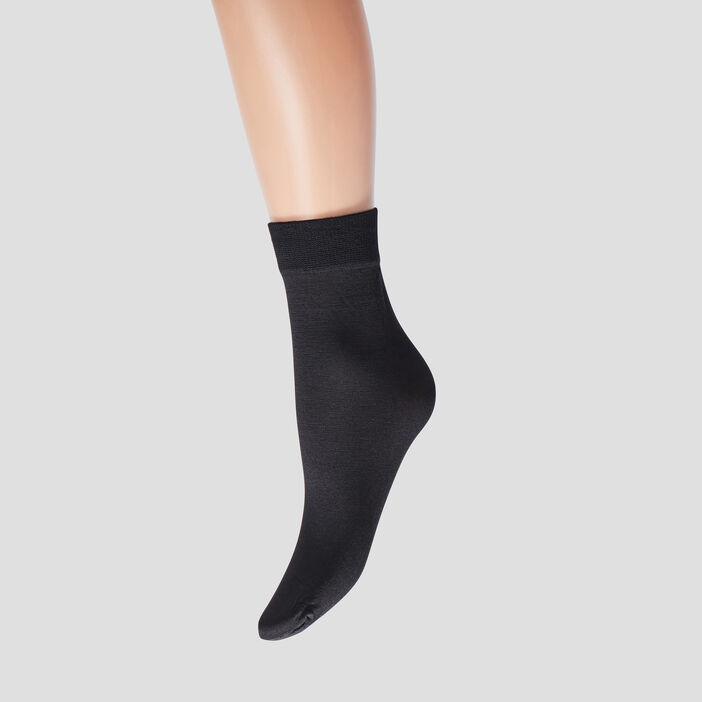 Lot 2 paires socquettes mixte noir