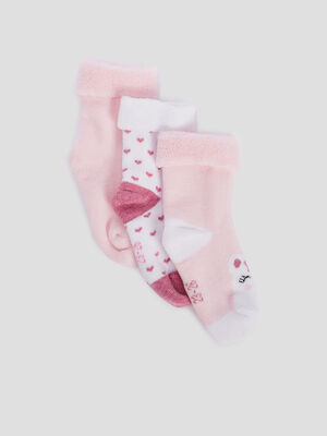 MI CHAUSSETTES rose bebef