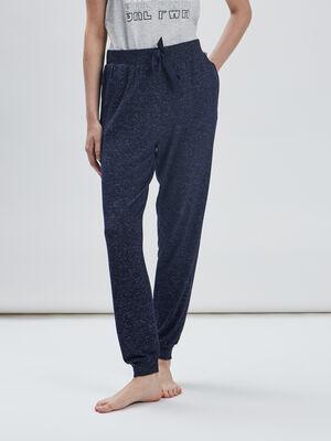 Bas de pyjama bleu femme