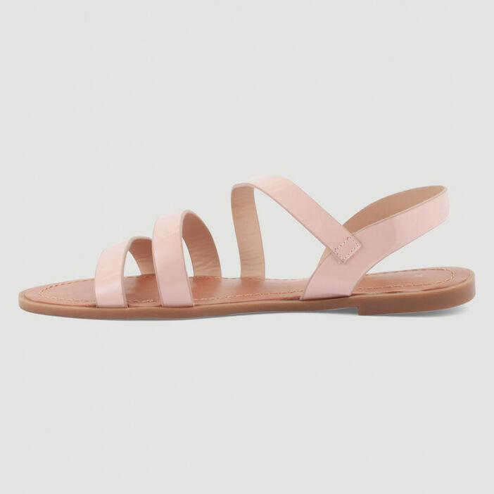 Sandales plates femme rose