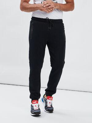 Pantalon jogging droit noir homme