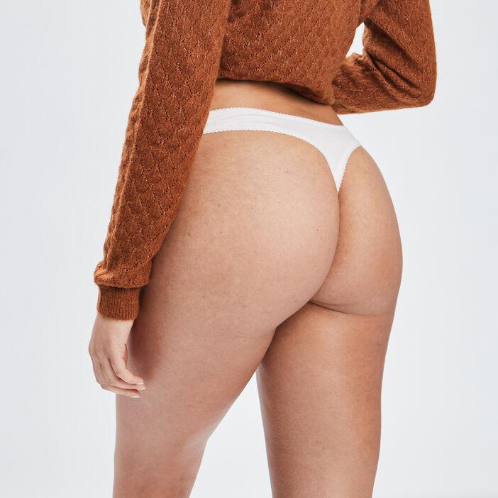 Culotte string femme rose