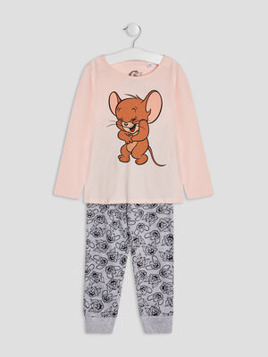 Ensemble pyjama Tom et Jerry rose fille