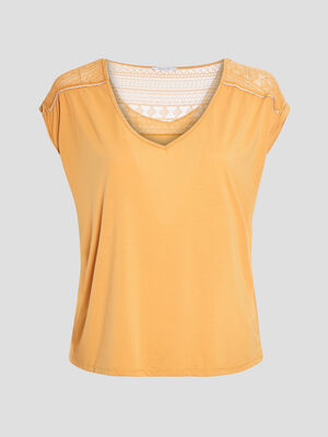 T shirt jaune moutarde femmegt