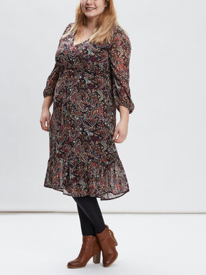 Robe evasee grande taille multicolore femmegt