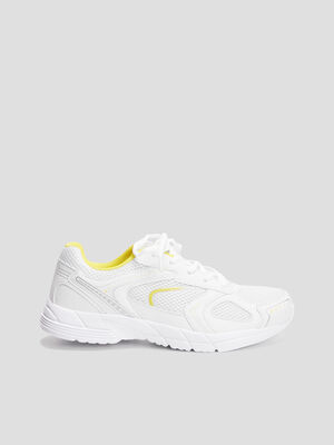 Baskets running blanc femme