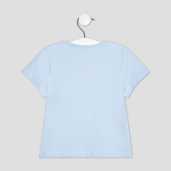 T-shirt manches courtes bébé garçon bleu ciel