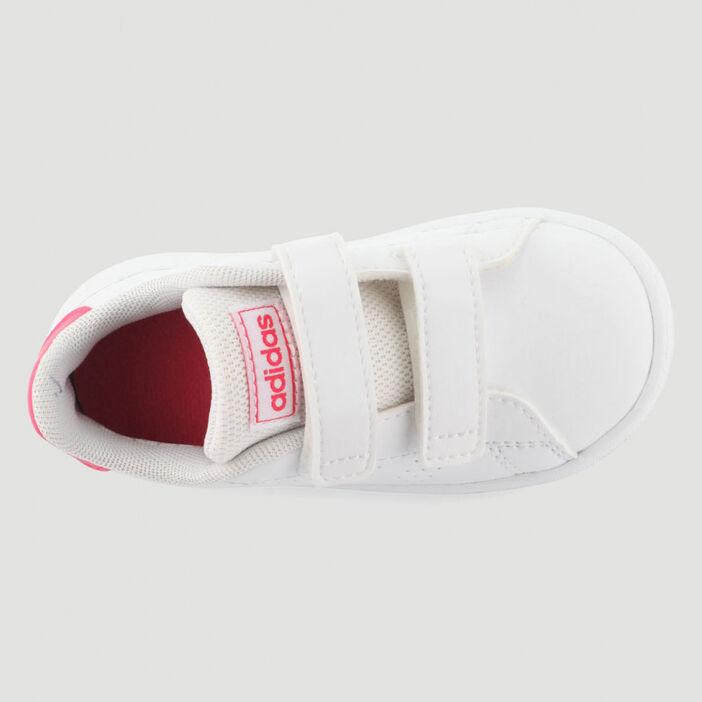 Tennis Adidas ADVANTAGE I bébé blanc