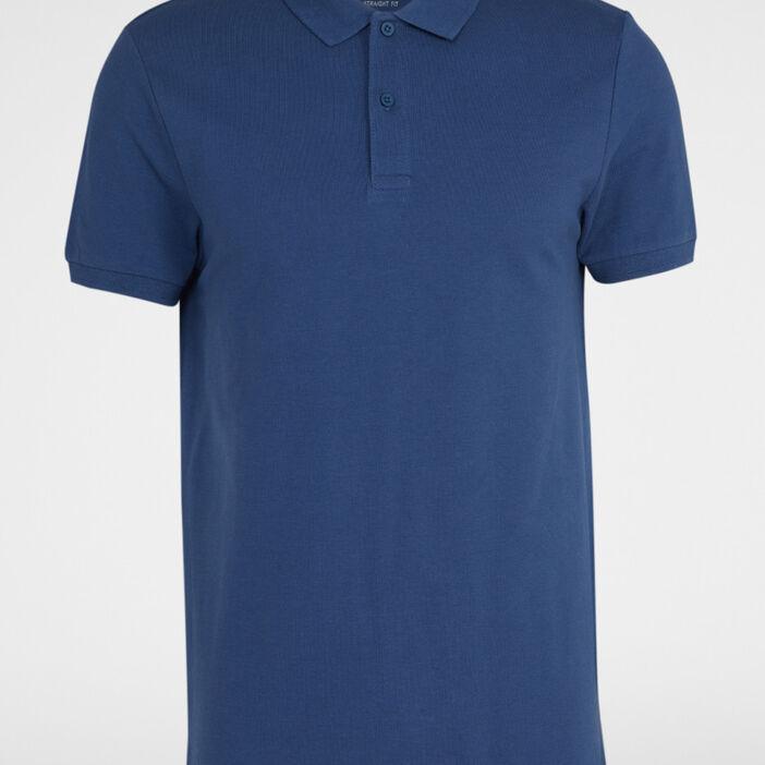Polo manches courtes homme bleu