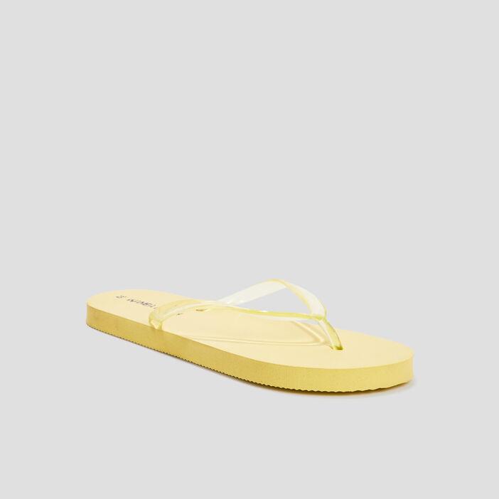 Tongs femme jaune