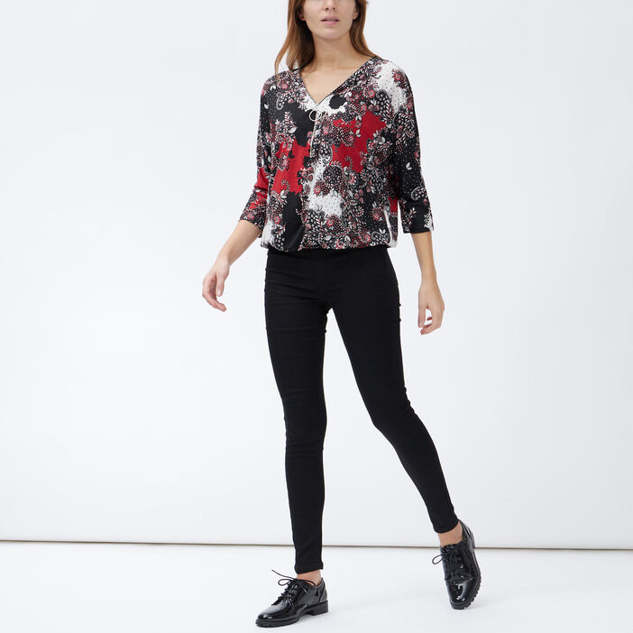 Blouse manches 3/4 femme rouge