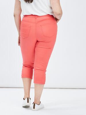 Pantalon corsaire slim orange corail femmegt
