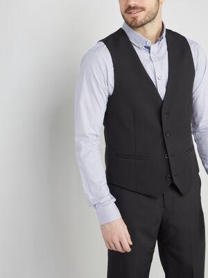 Gilet de costume sans manches noir homme