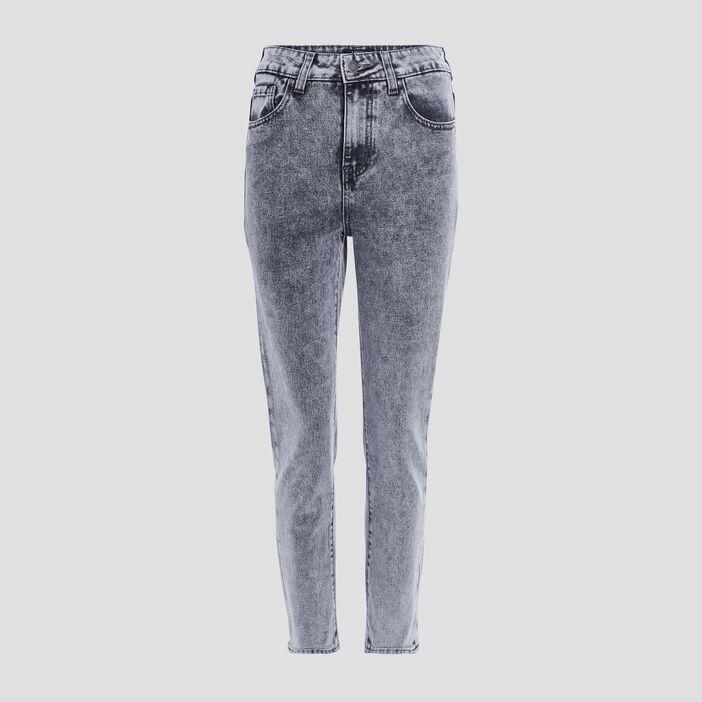 Jeans mom taille haute Liberto femme gris