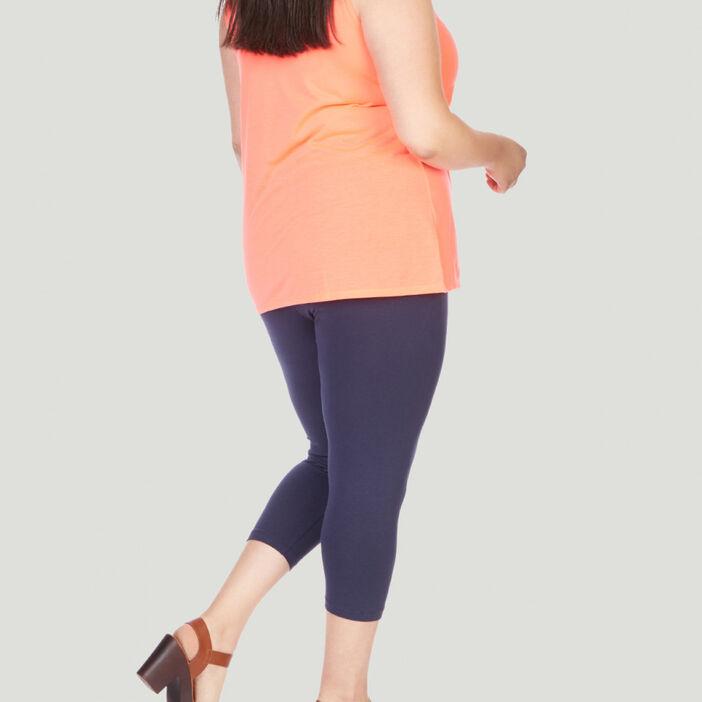 Leggings 7/8ème femme grande taille bleu marine