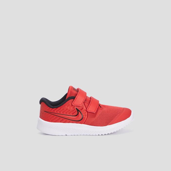 Baskets running Nike fille rouge