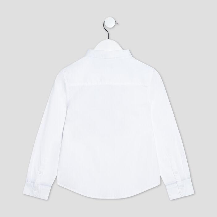 Chemise manches longues garçon blanc