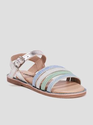 Sandales en cuir Liberto bleu fille