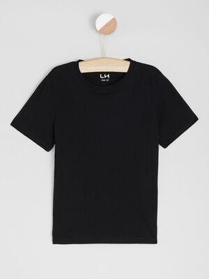 T shirt basique en coton noir garcon