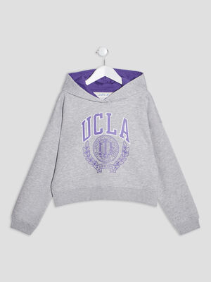 Sweat a capuche UCLA gris fille
