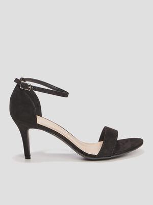 Sandales a talons aiguilles noir femme