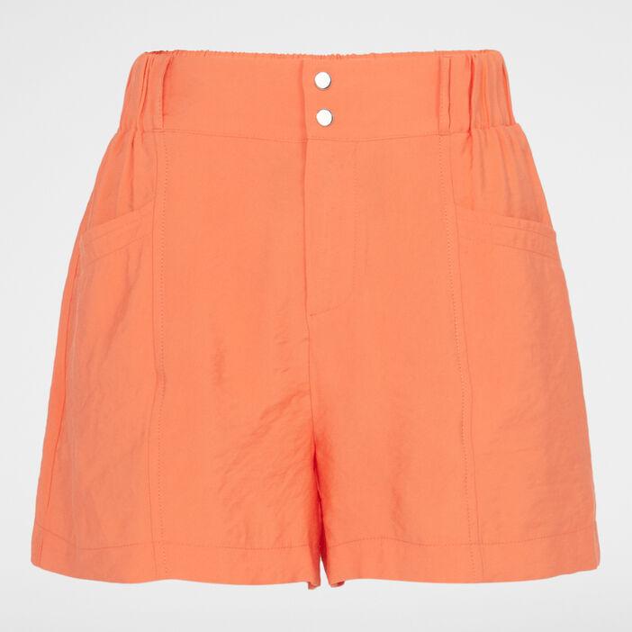 Bermuda, short femme orange